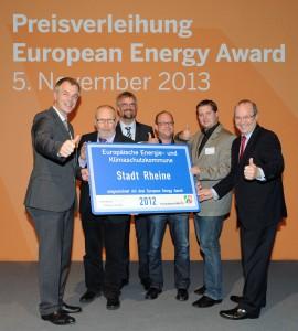 v.l. NRW-Umweltminister J.Remmel, stellv. Bürgermeister K.-H. Brauer, M. Forstmann, M.Wolters, G.Wermers und L.Schneider (Geschäftsführer EA.NRW)